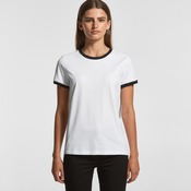 Womens AS Colour Ringer Tee 4053